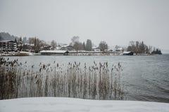 Zimy tegernsee Bayern alps obraz royalty free
