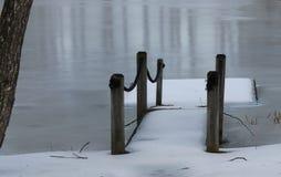 Zimy tratwa Zdjęcie Royalty Free