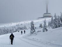 Zimy turystyka Obrazy Royalty Free