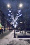Zimy ulica obrazy stock