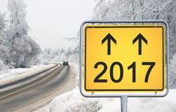 Zimy ulica 2017 Zdjęcia Stock