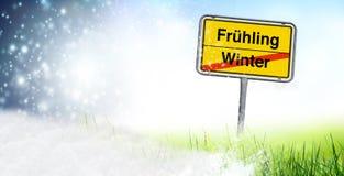 Zimy wiosny zmiana ilustracja wektor