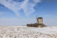Zimy wsi krajobraz Zdjęcia Royalty Free