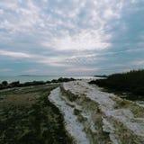Zimy wybrzeże fotografia stock