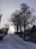 Zimy wzgórze Obraz Royalty Free