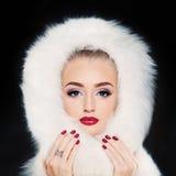 Zimy Wzorcowa kobieta na zmroku Zdjęcia Stock