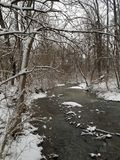 Zimy zatoczka zdjęcie stock