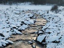 Zimy zatoczka obraz stock