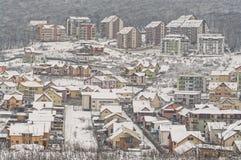 Zimy zbocza sąsiedztwo Zdjęcie Royalty Free