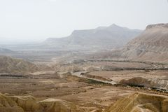 Zin river view. Zin river banks at Kibbutz Sde Boker Stock Images