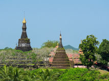 The Zina Man Aung Pagoda in Mrauk U Royalty Free Stock Photography