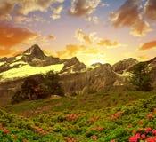 Zinalrothorn nelle alpi della pennina, Svizzera Fotografie Stock
