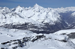 Zinalrothorn and Weisshorn Royalty Free Stock Photos
