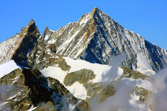 Zinalrothorn and Weisshorn Stock Photography