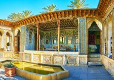 Zinat Ol-Molk historyczny dwór, Shiraz, Iran Zdjęcia Royalty Free