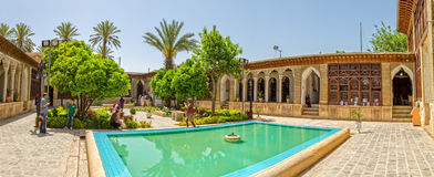 Zinat ol Molk House inner courtyard panorama Royalty Free Stock Image