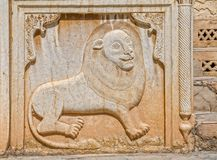 Zinat ol Molk House lion relief Royalty Free Stock Photo