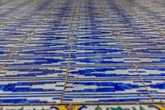 Zinat ol Molk House tiles closeup Royalty Free Stock Image
