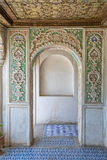 Zinat ol Molk House wooden room interior Stock Images