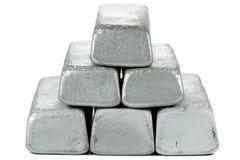 Zinc bars. Isolated on white background royalty free stock images
