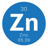 Zinc chemical element Royalty Free Stock Image