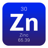 Zinc chemical element Royalty Free Stock Photo