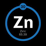 Zinc chemical element Stock Photos