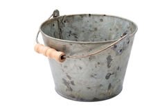 Zinc-coated bucket Stock Photos