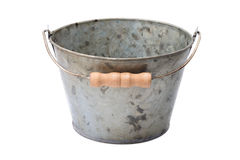Zinc-coated bucket Stock Images