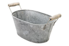 Zinc-coated washbowl Stock Photography