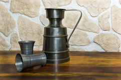 Zinc cups Royalty Free Stock Images