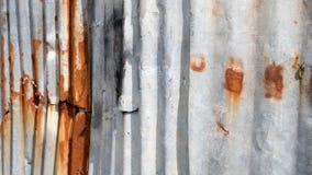 Zinc de fente et fond ou textur de rouille image libre de droits
