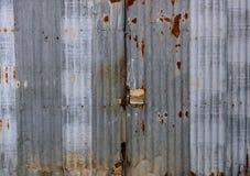 Zinc door Stock Image