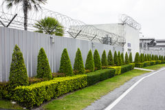 Zinc Fence Barb at airport Stock Images