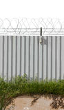 Zinc Fence Barb poster style Royalty Free Stock Photos