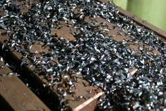 Zinc flakes Stock Image