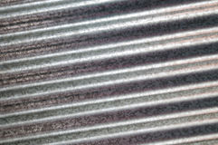 Zinc galvanized corrugated metal texture diagonal Royalty Free Stock Photo