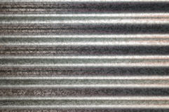 Zinc galvanized corrugated metal texture horizontal Royalty Free Stock Photography