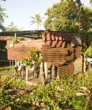 Zinc house building Big Corn Island Nicaragua Royalty Free Stock Photography