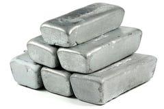 Zinc ingots Stock Photos