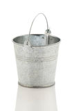 Zinc metal bucket  on white background Royalty Free Stock Photo