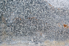 Zinc metal texture Royalty Free Stock Photography
