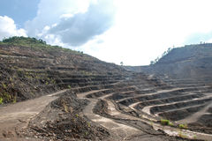 Zinc mine. Where a large deposit of zinc silicate was found, Tak, Thailand Stock Photo