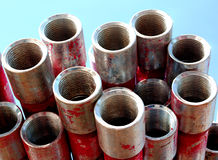 Zinc pipes Stock Photo