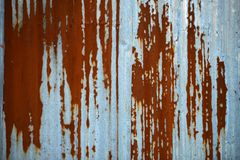 Zinc plate wall Royalty Free Stock Image