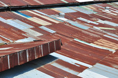 Zinc Roof Royalty Free Stock Photo