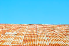 Zinc roof and sky Royalty Free Stock Photo