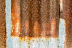 Zinc rouillé Image stock