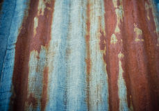 Zinc with rust Stock Photo