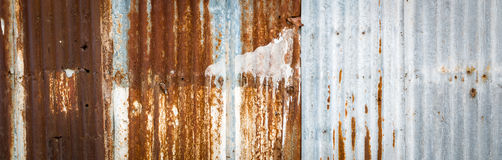 Zinc and rust Stock Image